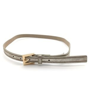 4/$25 Style & Co. Thin Silver Belt Gold Buckle NEW